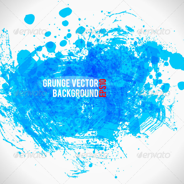 GraphicRiver Color Paint Splashes Grunge Background 4905848