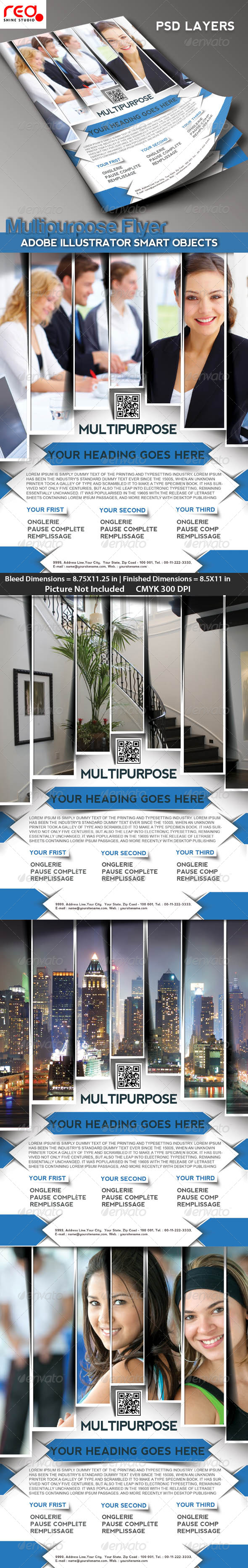 Multipurpose Business Flyer/Poster Magazine Templat