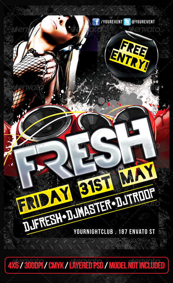 GraphicRiver Fresh Club Flyer 4839225