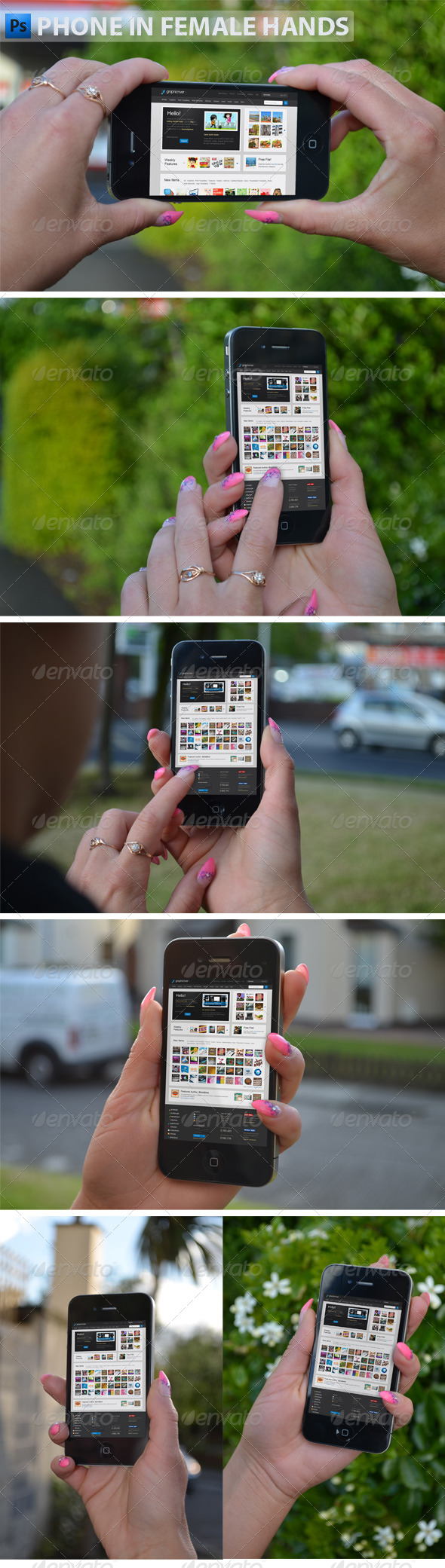 GraphicRiver Phone in Female Hands 4906526