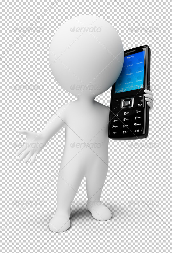 GraphicRiver 3D small people mobile phone 4906796