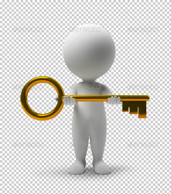 GraphicRiver 3D small people take a key 4906800