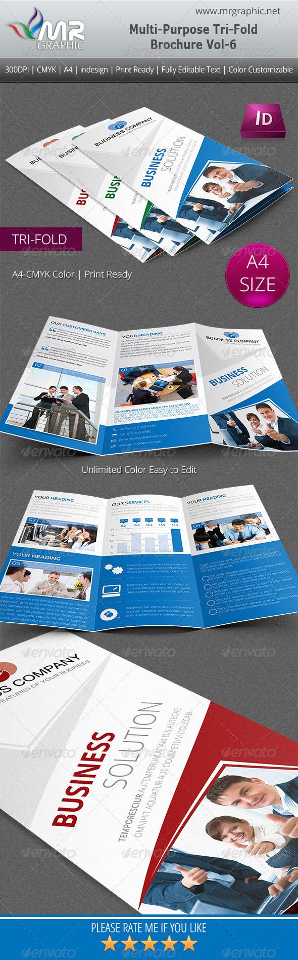 GraphicRiver Multipurpose Business Tri-Fold Brochure Vol-6 4908489