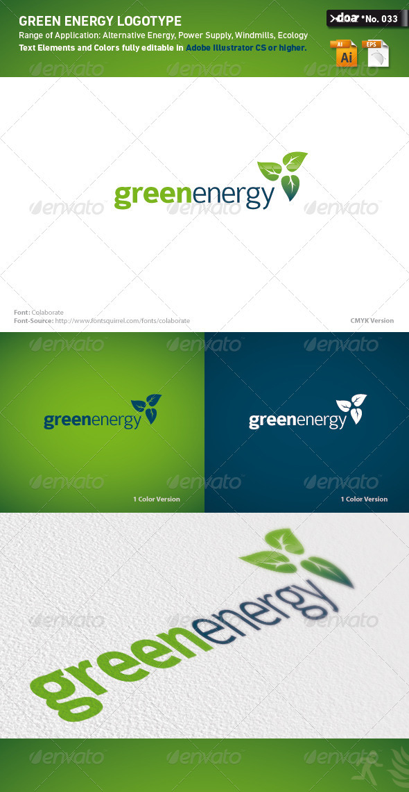 Green Energy Logo Template - Nature Logo Templates