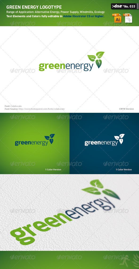 Green Energy Logo Template - Nature Logo Templates