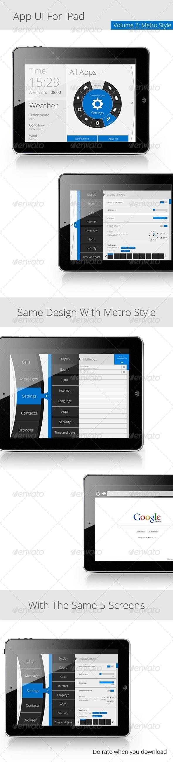 GraphicRiver App UI For iPad Metro 4887251