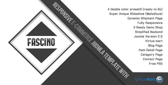 ThemeForest Fascino Responsive Joomla & VirtueMart Template 4850248