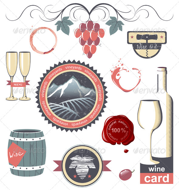 GraphicRiver Wine Emblems 4909189