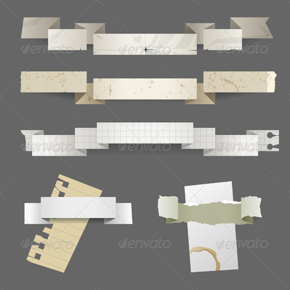 GraphicRiver Paper Banners 4909192