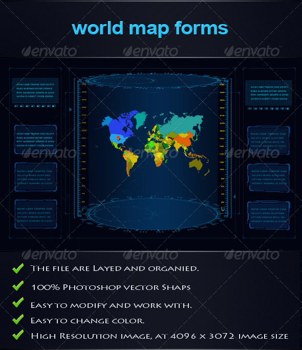 GraphicRiver World Map Forms 4892964