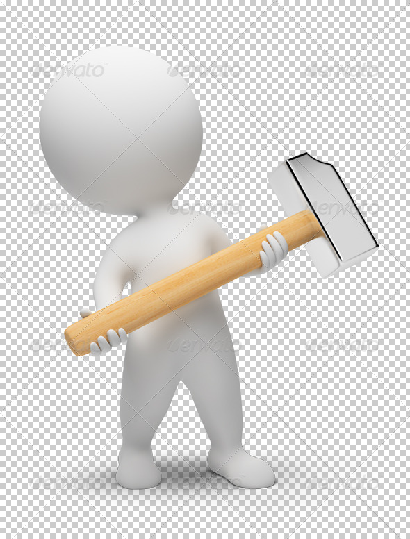 GraphicRiver 3D small people hammer 4909431