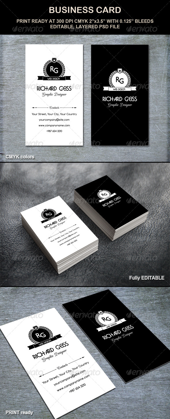 GraphicRiver Business Card Retro Style 4909879