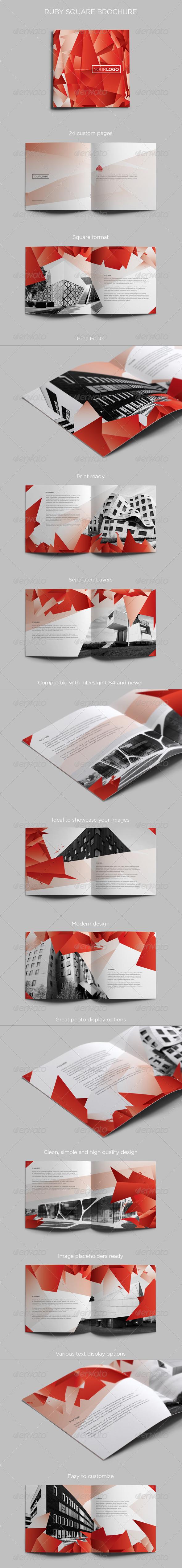 GraphicRiver Ruby Square Brochure 4910099