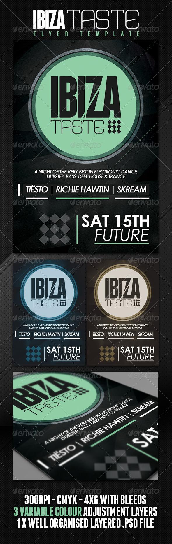 GraphicRiver Ibiza Taste Club Party Flyer 4851539