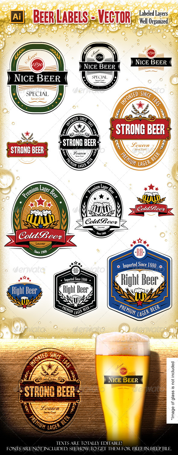 Beer Labels - Vectors