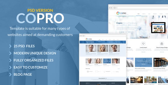 ThemeForest CoPro Modern PSD Template 4902928