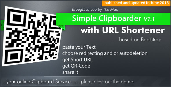 Simple Clipboarder with URL Shortener Service - CodeCanyon Item for Sale