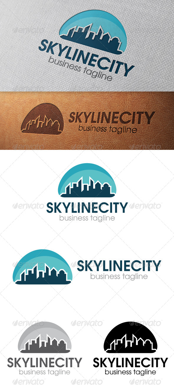 GraphicRiver City Skyline Logo Template 4910590