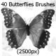 40 Butterflies Brushes (2500px)  - GraphicRiver Item for Sale