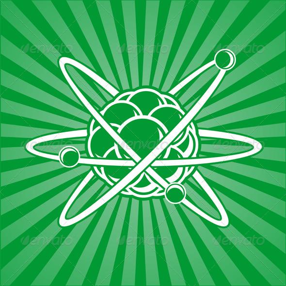GraphicRiver Atom with Nucleus 4910771