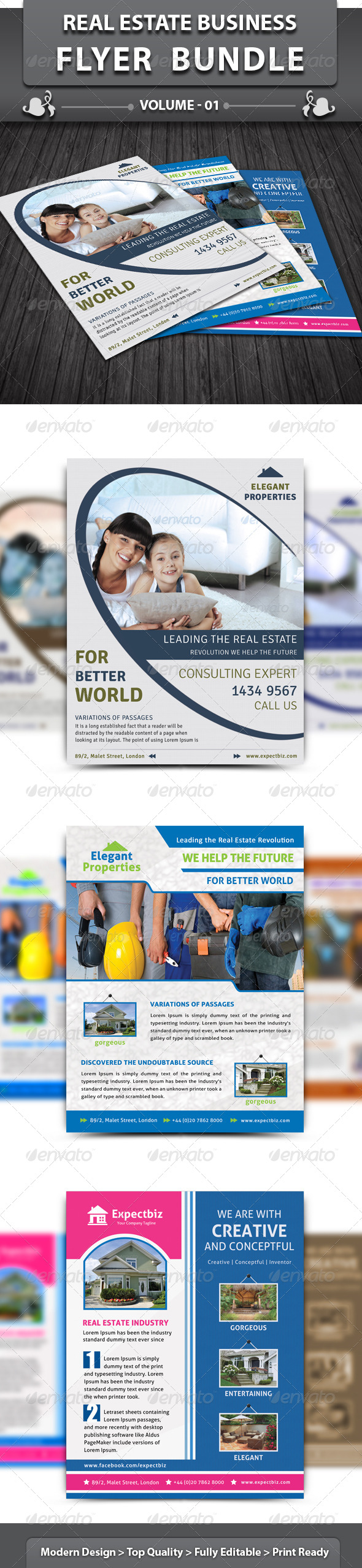 Real Estate Business Flyer | Bundle 1