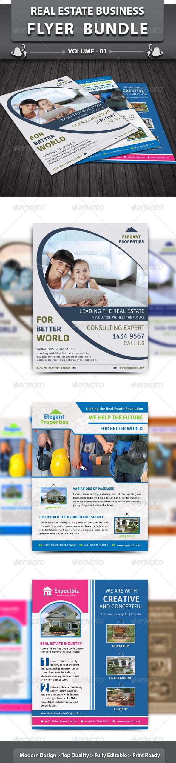 GraphicRiver Real Estate Business Flyer Bundle v1 4910827