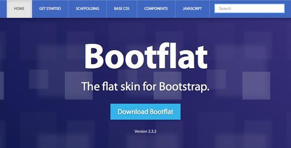 CodeCanyon Bootflat Responsive Bootstrap Skin 4884862