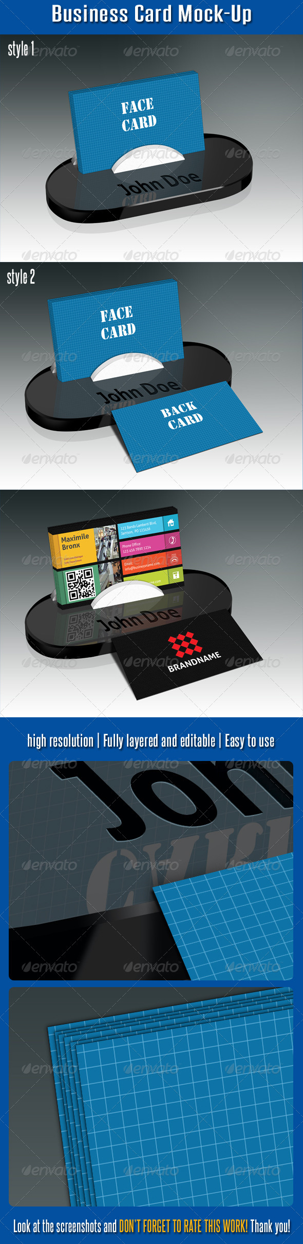 GraphicRiver Business Card Mock-Up V02 4900382