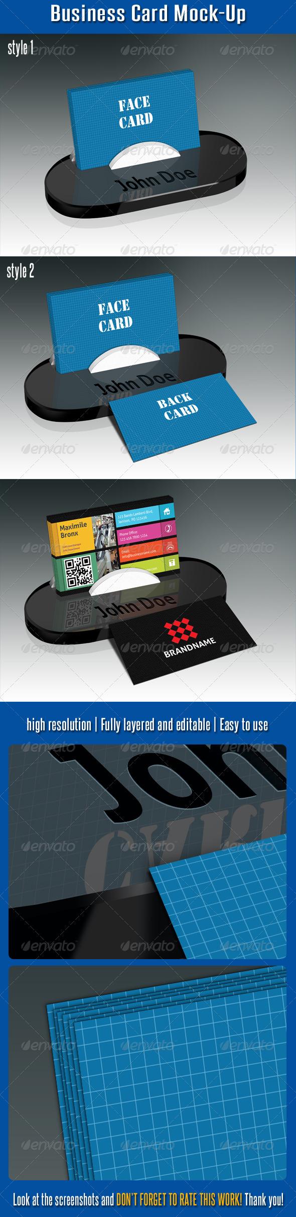 Business Card Mock-Up V02