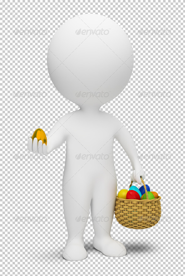 GraphicRiver 3D small people Easter 4912893
