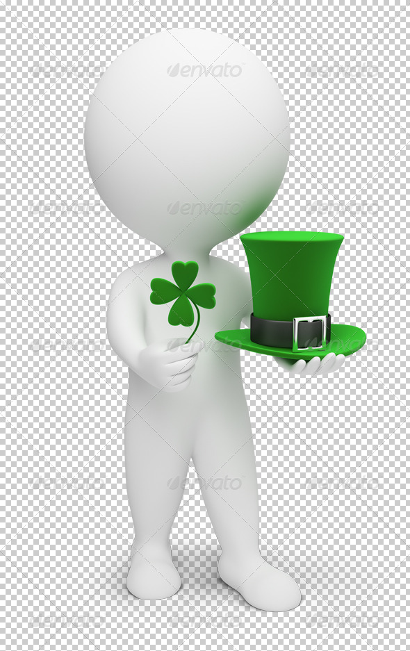 GraphicRiver 3D small people Saint Patrick 4912896