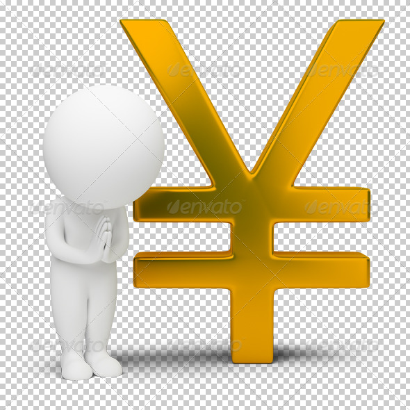 GraphicRiver 3D small people yen sign 4912912