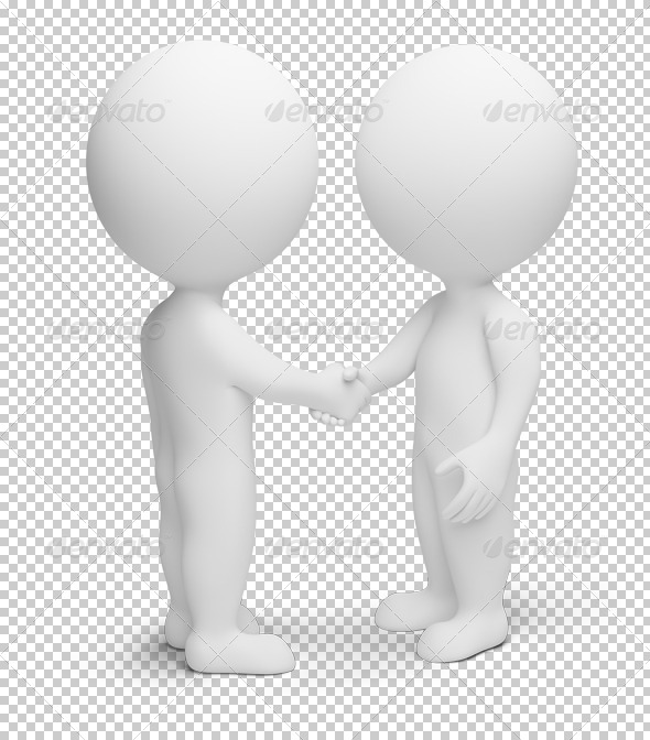 GraphicRiver 3D small people handshake 4912941