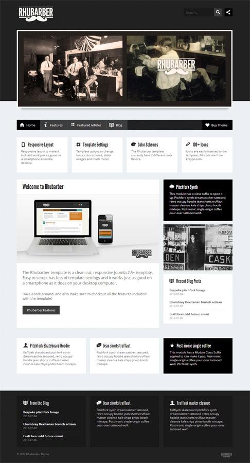 Rhubarber - Responsive Joomla Template