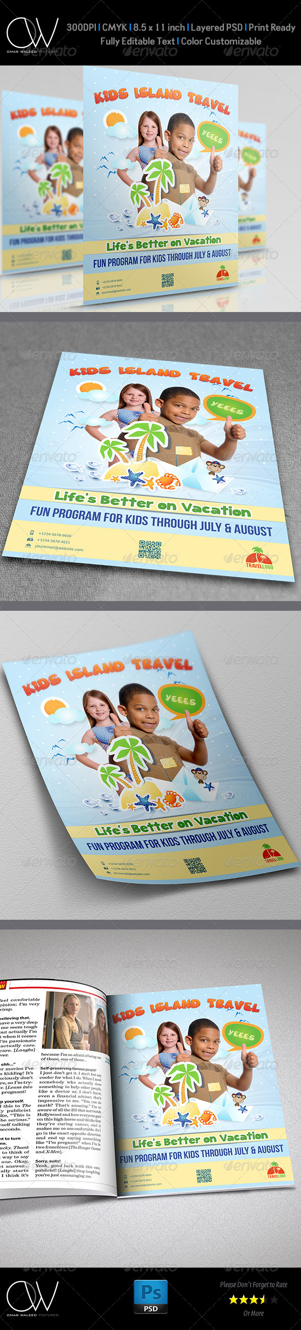 Kids Travel Flyer - Flyers Print Templates