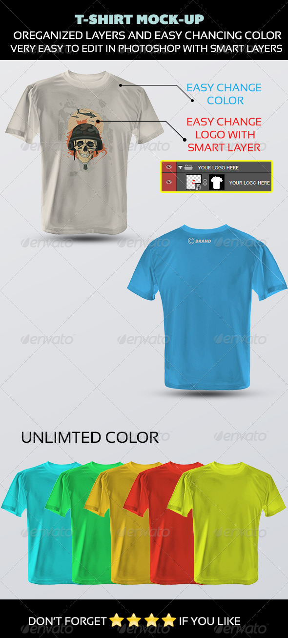 GraphicRiver T-Shirt Mock-up 4914025