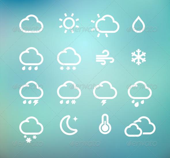 GraphicRiver Retro Weather Icons 4914163