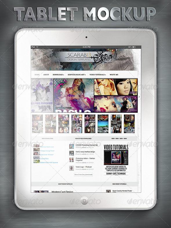 White Tablet Mock-Up - Mobile Displays