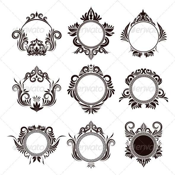 GraphicRiver Circle Frame Ornamental 4914982