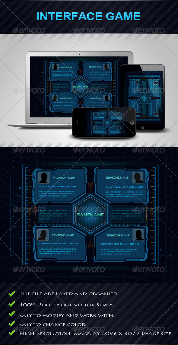 GraphicRiver Interface Game 4849690 Created: 5