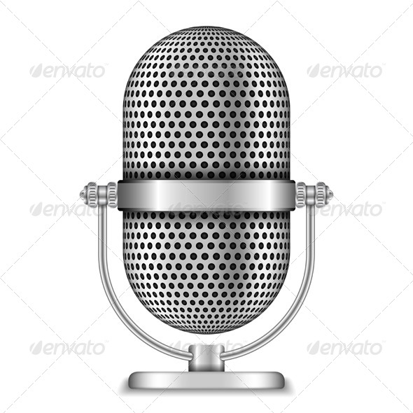 GraphicRiver Retro Microphone 4915168