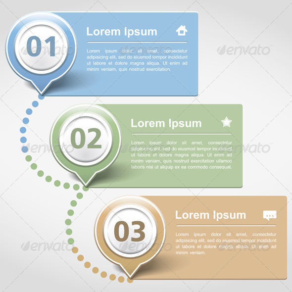 GraphicRiver Design Template with Three Banners 4915171