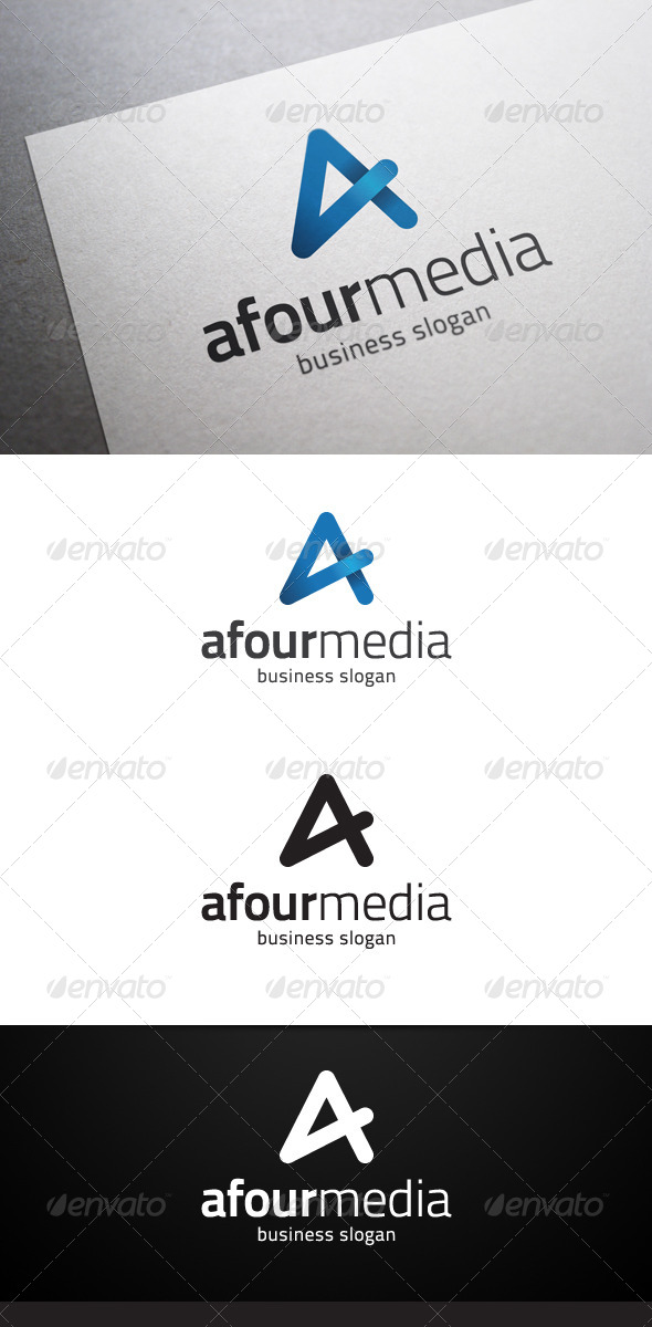 GraphicRiver Afour Media A Letter Logo 4915445
