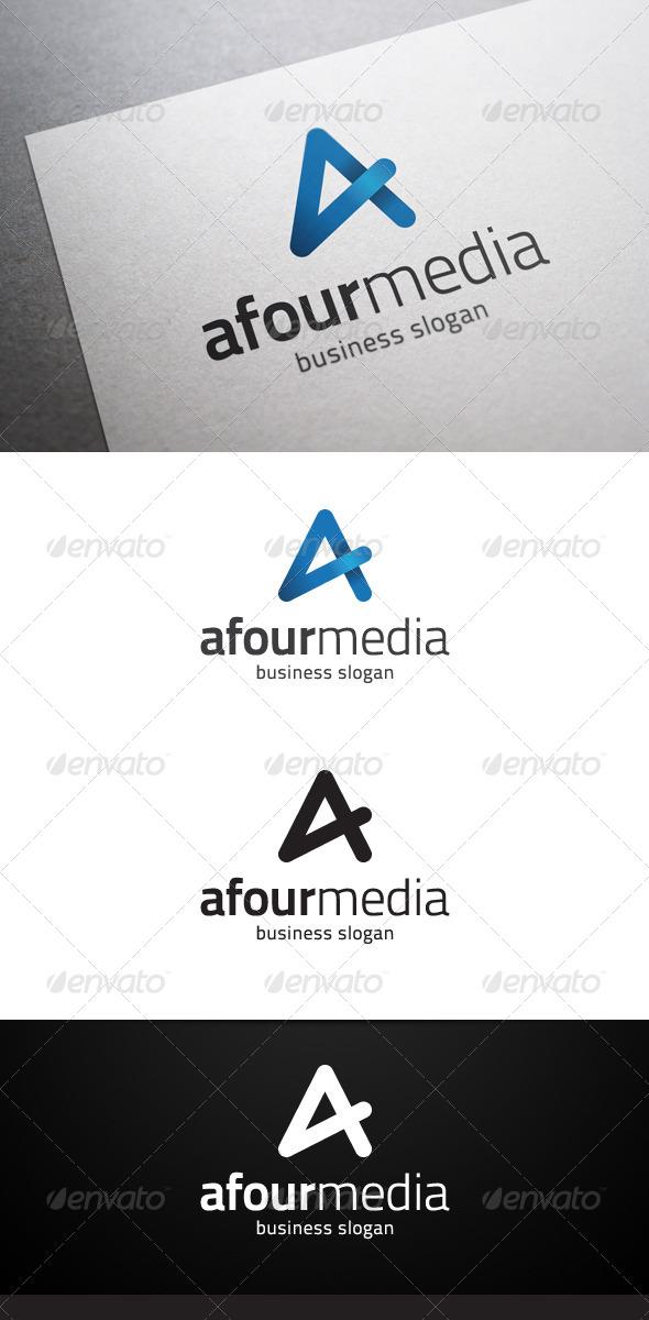 Afour Media A Letter Logo