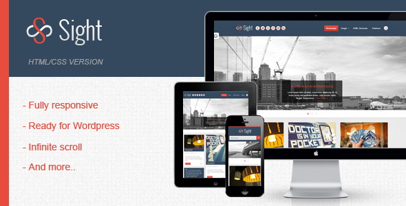 Sight - Blogging Infinite Responsive HTML Template - 01_Preview.png for preview of item detail