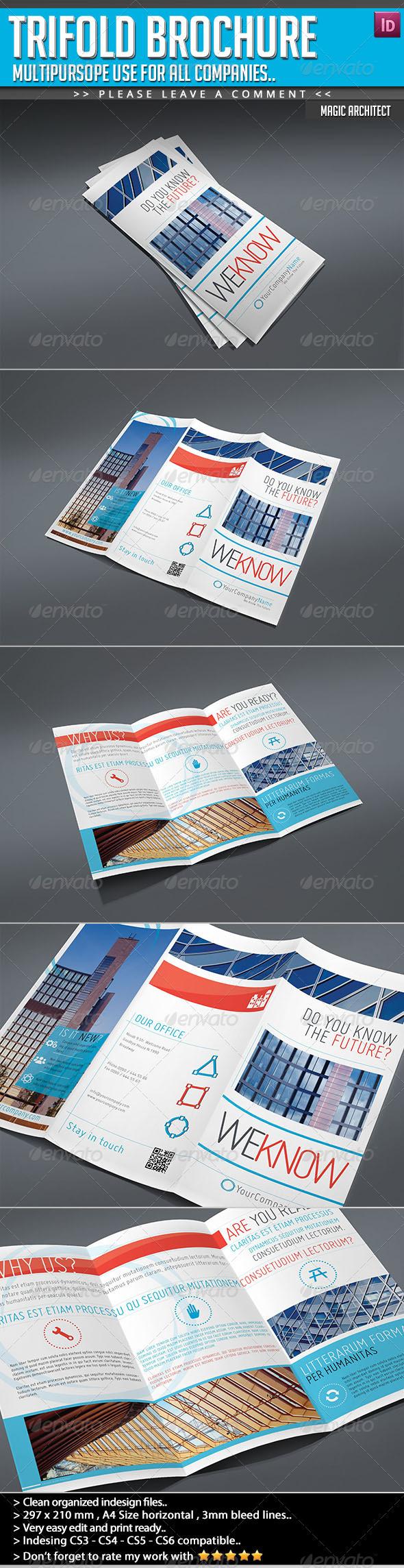 GraphicRiver Trifold Brochure The Magic of Architecture 4915811