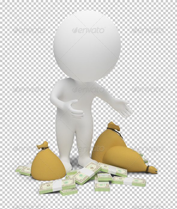GraphicRiver 3D small people money 4915878