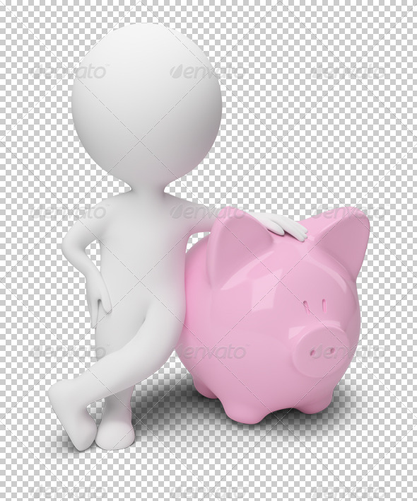 GraphicRiver 3D small people money box 4915879