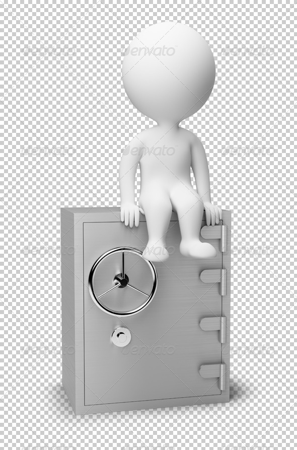 GraphicRiver 3D small people safe 4915880