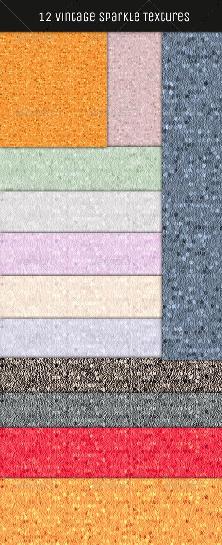 GraphicRiver 12 Vintage Sparkle Textures HQ 4900331